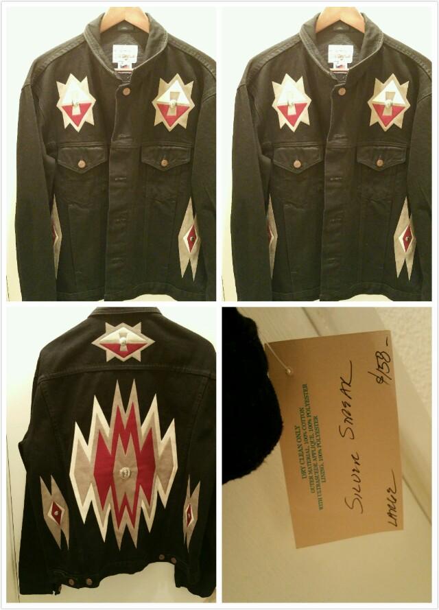 Brand New Designer Black Denim Jacket