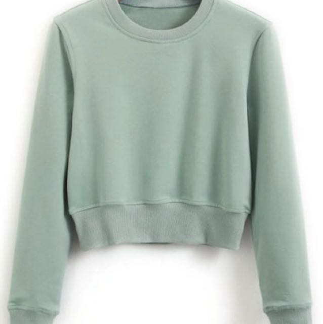 Brand new green cropped jumper
