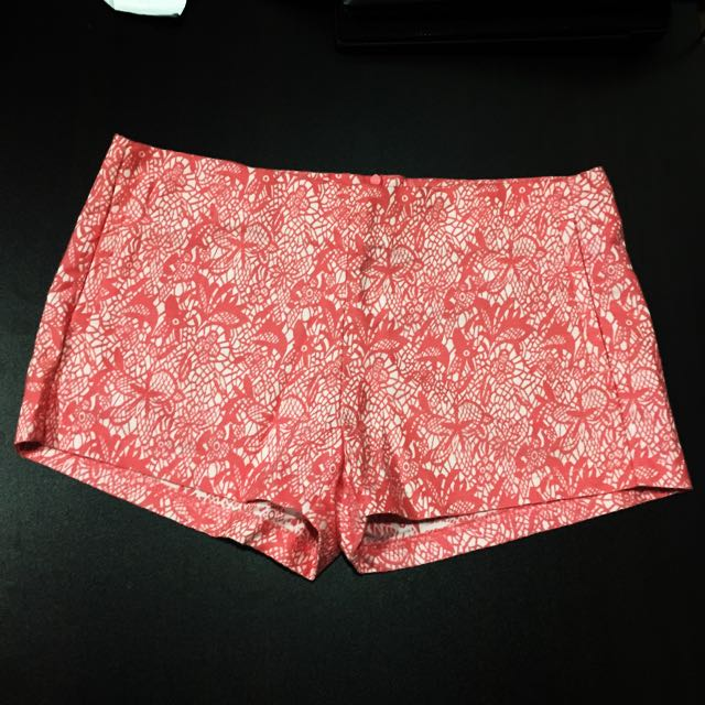 [BRAND NEW] Padini's SEED Floral Shorts In Orange