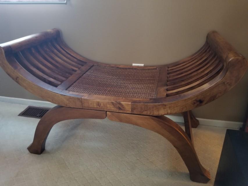 Brand new teak bench