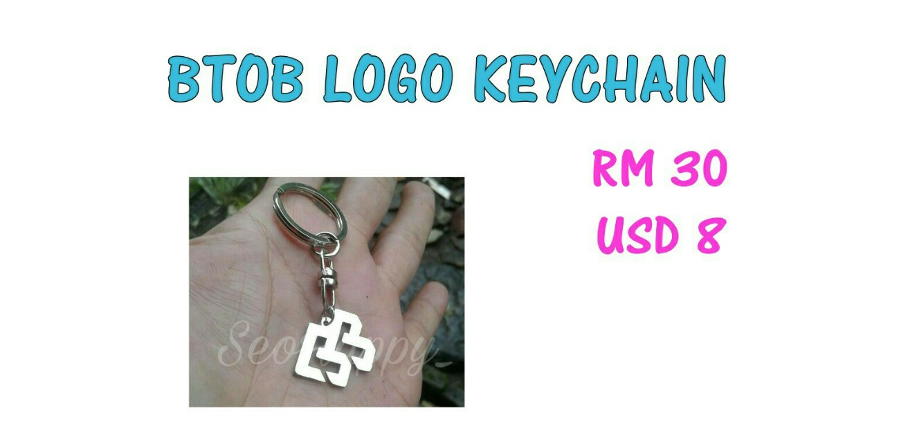 Btob Logo Keychain K Wave On Carousell
