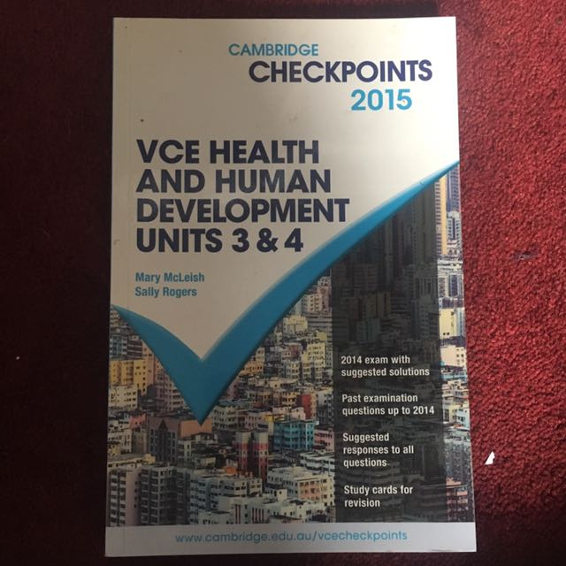 Cambridge checkpoints 2015 VCE health and human development units 3/4