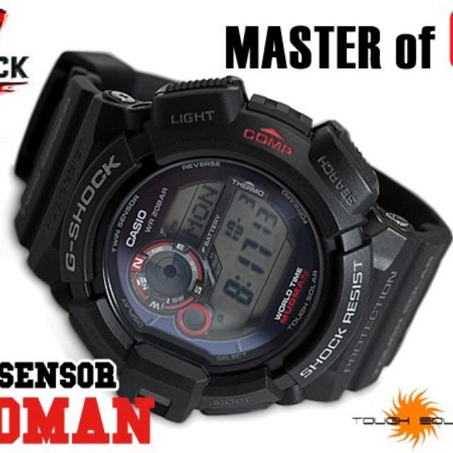 Casio G Shock g-9300-1 g9300 resin mudman solar men s watch 1685b12602b0