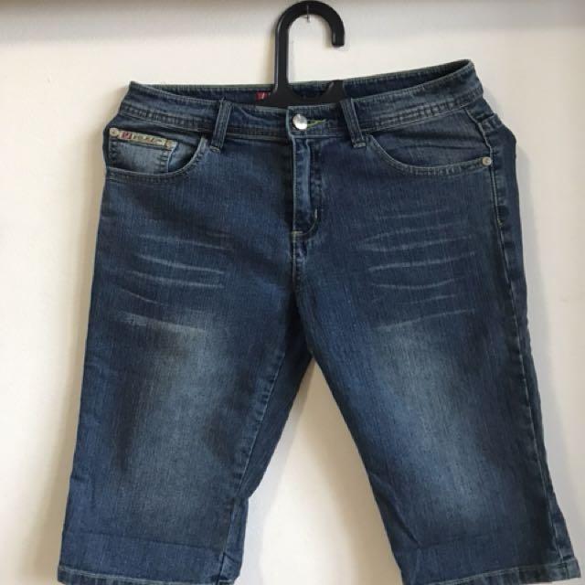 Celana 3/4 jeans blue