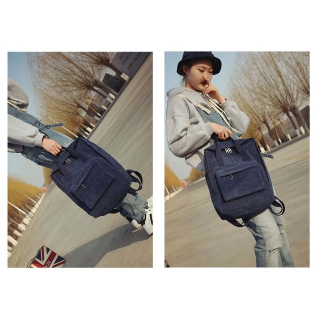 CNY Promo ! Brand New Korean Style Suede Rectangular Backpack / KanKen Bag / School Bag New