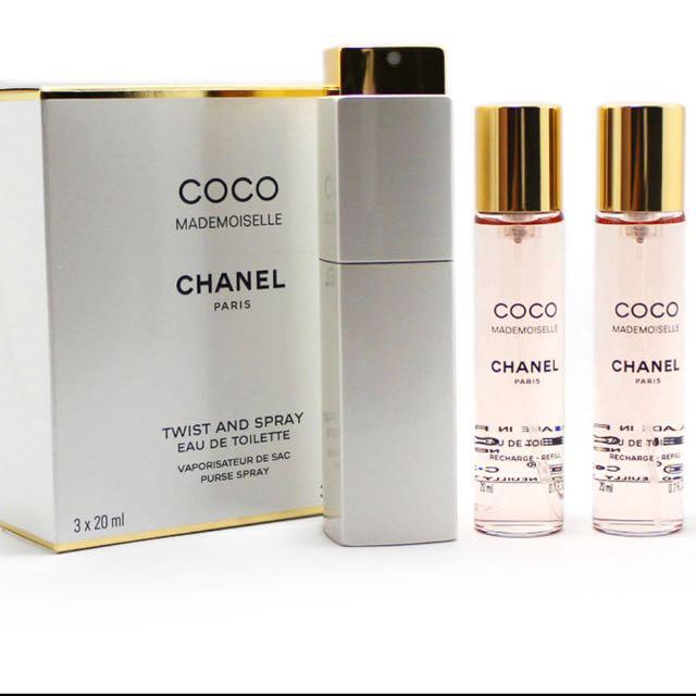 Coco Chanel Mademoiselle refillable perfume