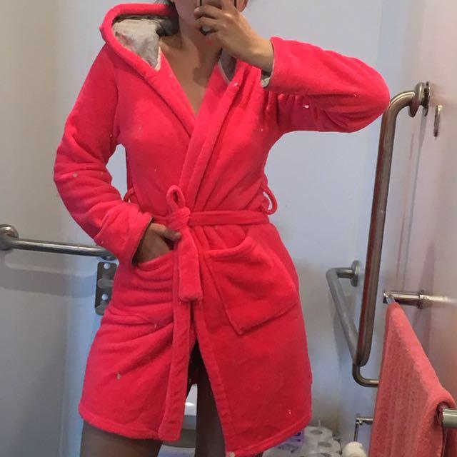 COSY Bath Robe Pink Cotton On