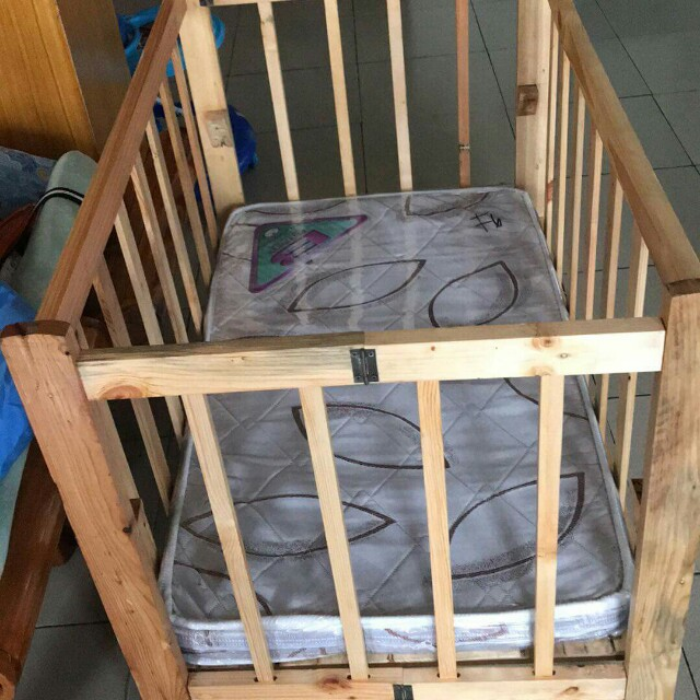 Crib with foam for infants