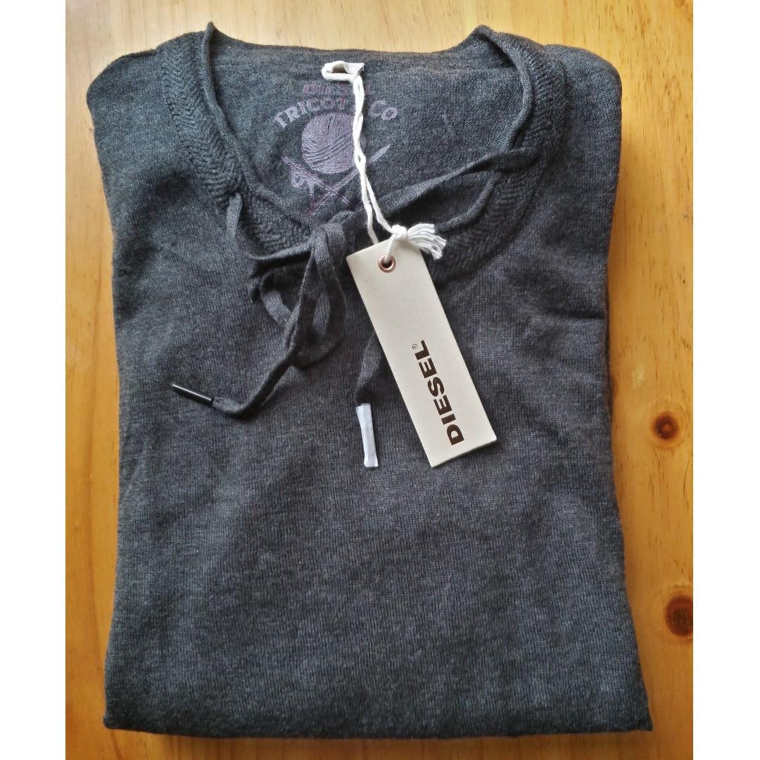 Diesel Men's Sweater / Jumper - M - Grey