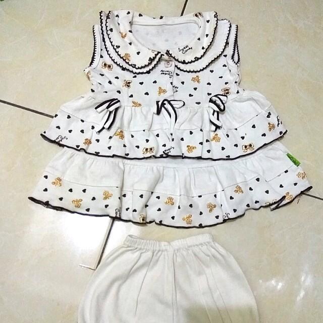 Dress baby + celana hampers (daleman)