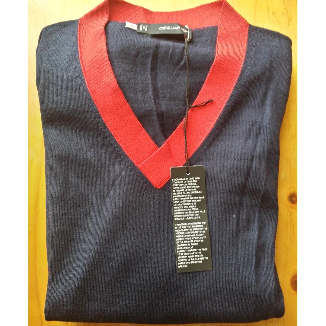 DSquared2 Men's Sweater / Jumper - M - Navy Blue