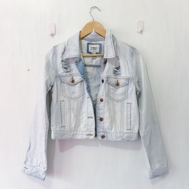 Forever 21 Lightwashed Denim Jacket