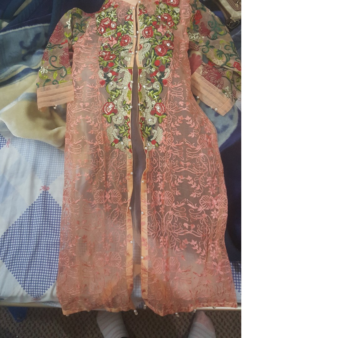 Front open Embroided Gown