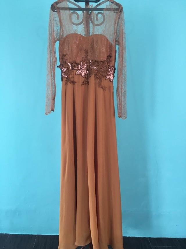 Gaun Pesta / Maxi Dress Gold /Gown