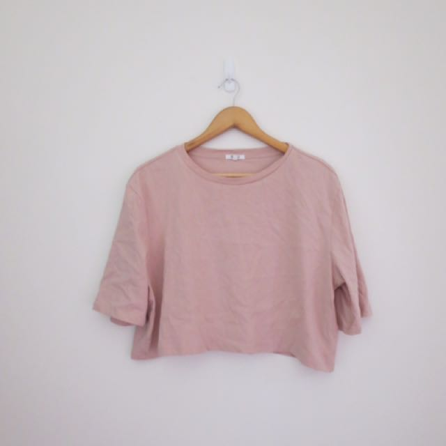 General Pants pink crop oversized tee size small