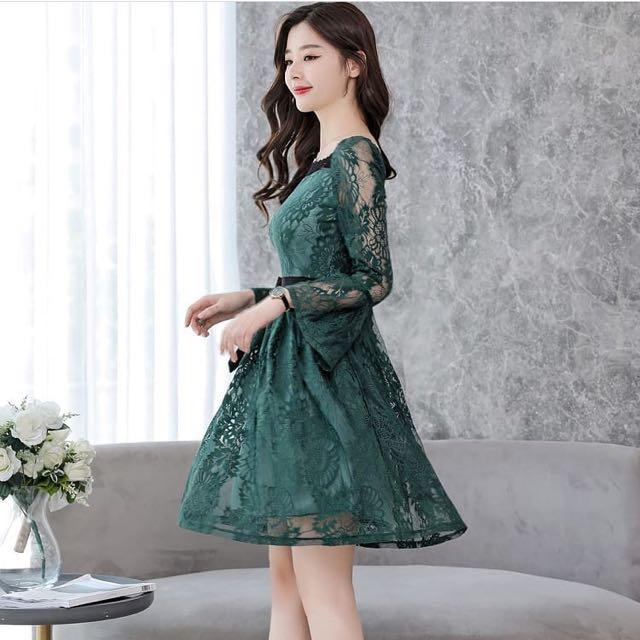 Green Dress / Dress Hijau / Natal / Christmas Dress