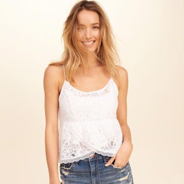 08ca3aa3588 Hollister Lace Babydoll Cami, Women's Fashion, Clothes, Tops on ...