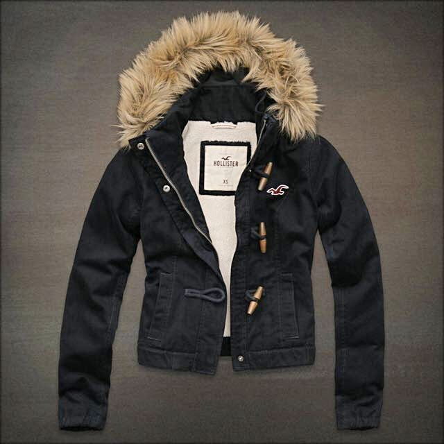 Hollister Winter Jacket With Fur
