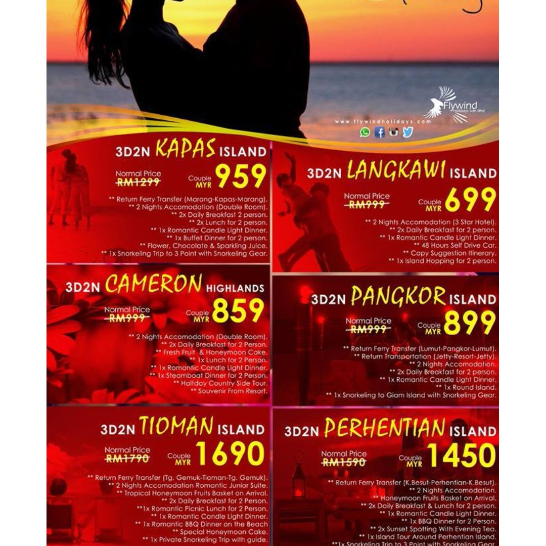 HONEYMOON PACKAGE Tickets Vouchers Event On Carousell