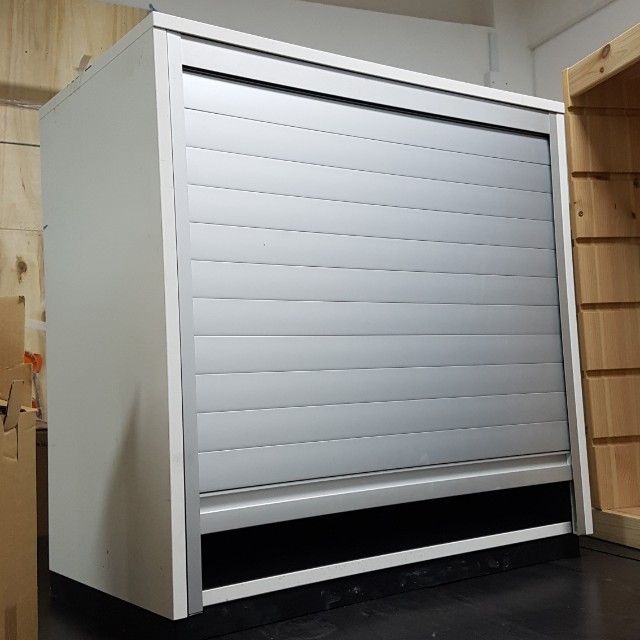 Ikea Galant Roll Front Cabinet With, Ikea Locking Cabinet