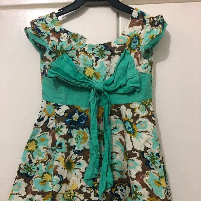 Kaboosh Green Floral Dress
