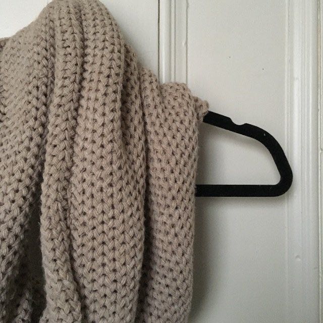 Knit Infinity Scarf, beige