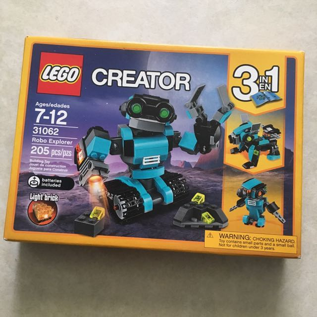 Light Brick Lego Creator Robot Robo Explorer Building Toy Boy Girl