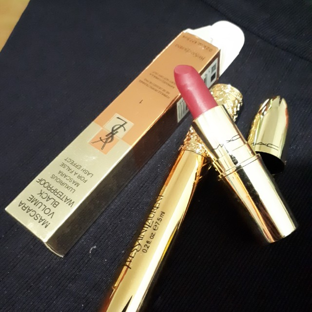 Lipstick and mascara Gold all for 129