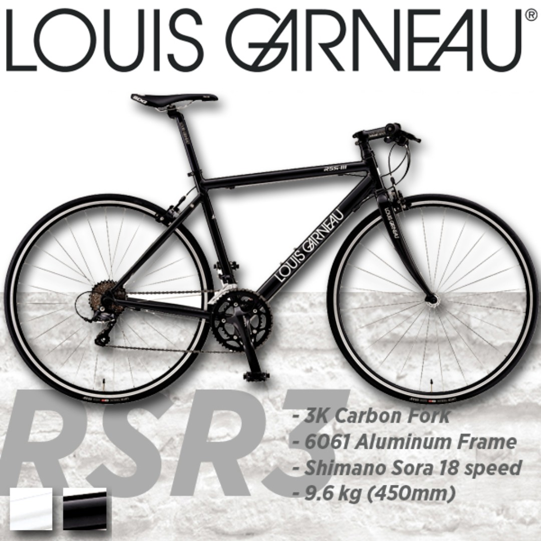 Louis Garneau RSR3 Carbon Fork Hybrid Flat Bar Road Bike, Bicycles ...