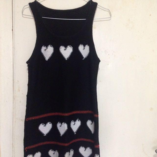 Love Knit Black Dress