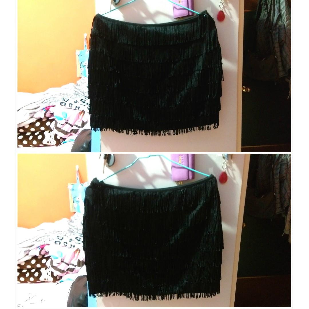 MANGO流蘇短裙(EUR36/全新品/僅試穿)