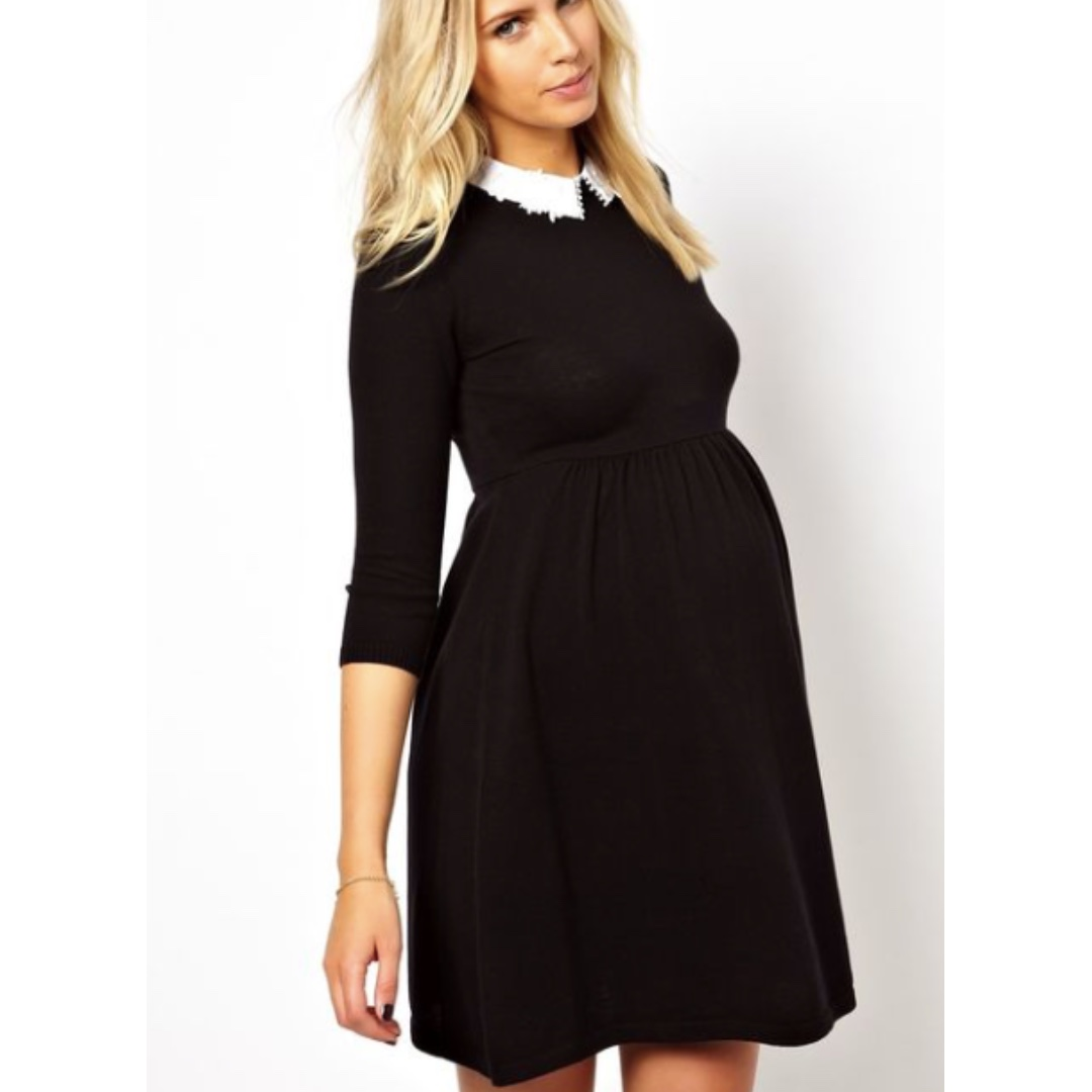 Maternity Knitted Skater Dress Size8AU (Small)
