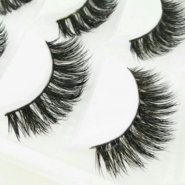 5pcs Mink Hair False Eyelashes