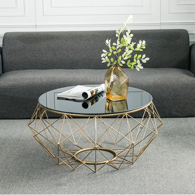 Modern Minimalist Round Coffee Table Tempered Glass Furniture Tables Chairs On Carousell