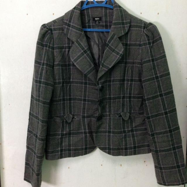 Mossimo Checkered Blazer