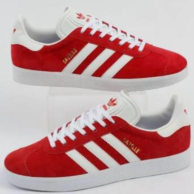 NEW Adidas Gazelle Shoes in Red