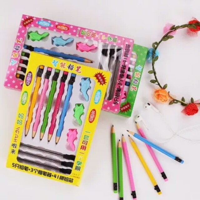 Promotion until 10/02/2018 New Smart Magic pencil Intelligent propelling No sharp/ Broken/Press 2B 0.7 pencil children present