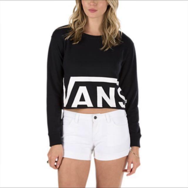 NEW Vans Cropped Sweatshirt