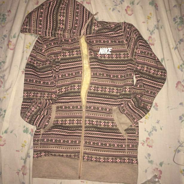 Nike Aztec pink hoodie Jacket