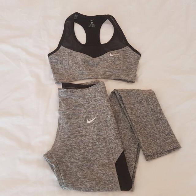 Nike women sports bra & stretched sports pants (SIZE S)