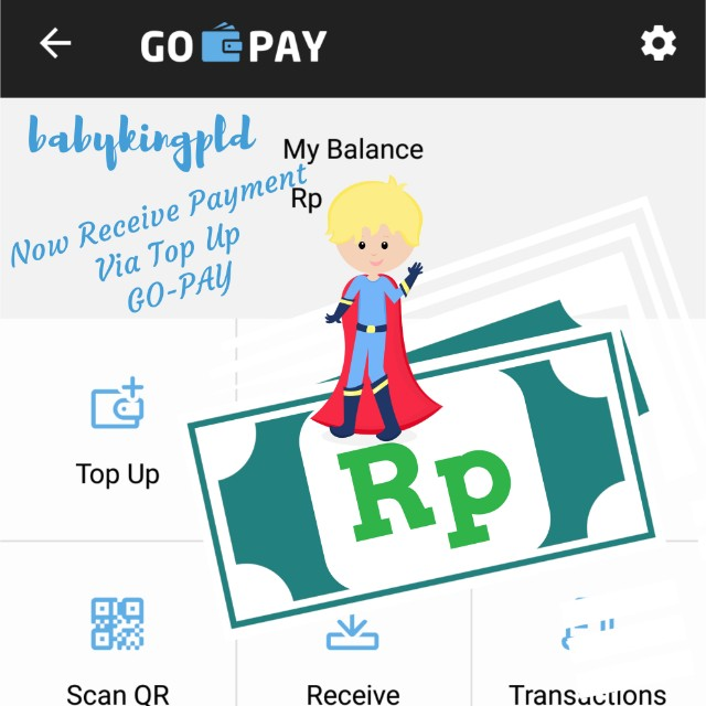 NOW received Payment via top up.Go-Pay 👍