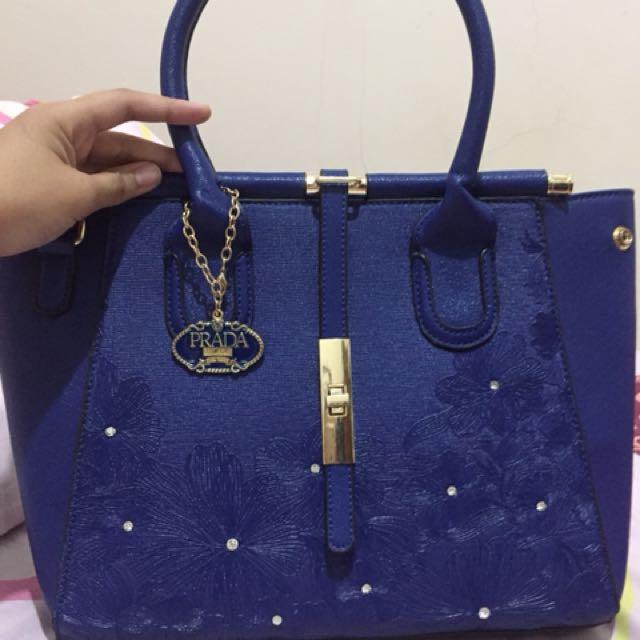 Prada Blue Bag's