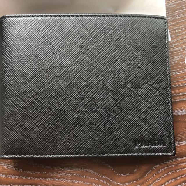 ff8744495b0f Prada Saffiano Leather Billfold Wallet