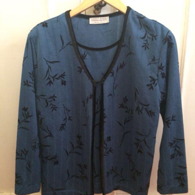 Preloved Teal Blue cardigan type top
