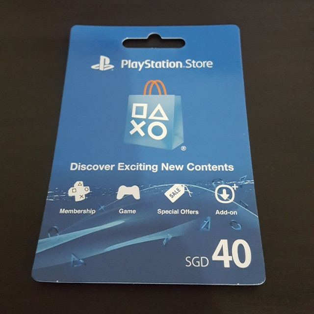 PSN Gift Card SGD40 Value, Entertainment, Gift Cards
