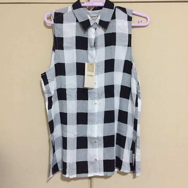 Pull&Bear Checkered blouse