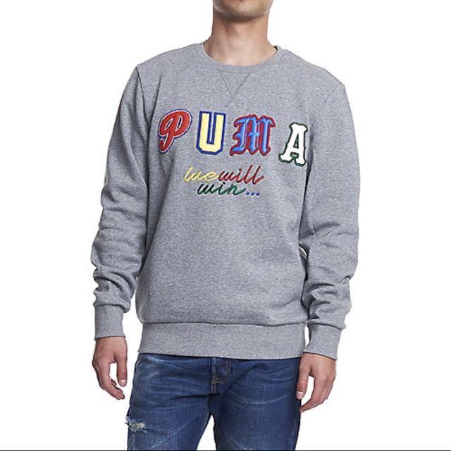 PUMA Dr.Logo crew 圓領長T