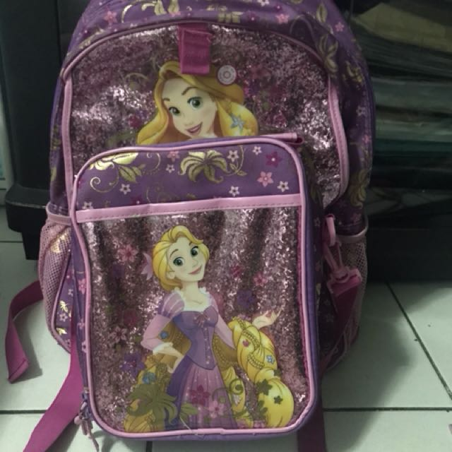 Rapunzel backpack & lunch tote