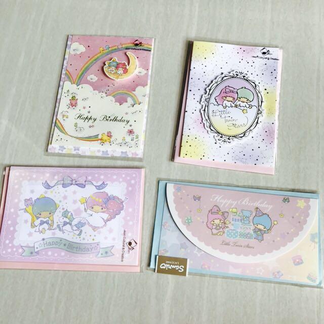 Sanrio Little Twin Stars Birthday Cards Greeting Books