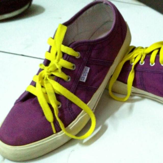 309005ef8c Sepatu Sneakers Unisex Kappa Purple Ungu Yellow Stabillo Preloved ...